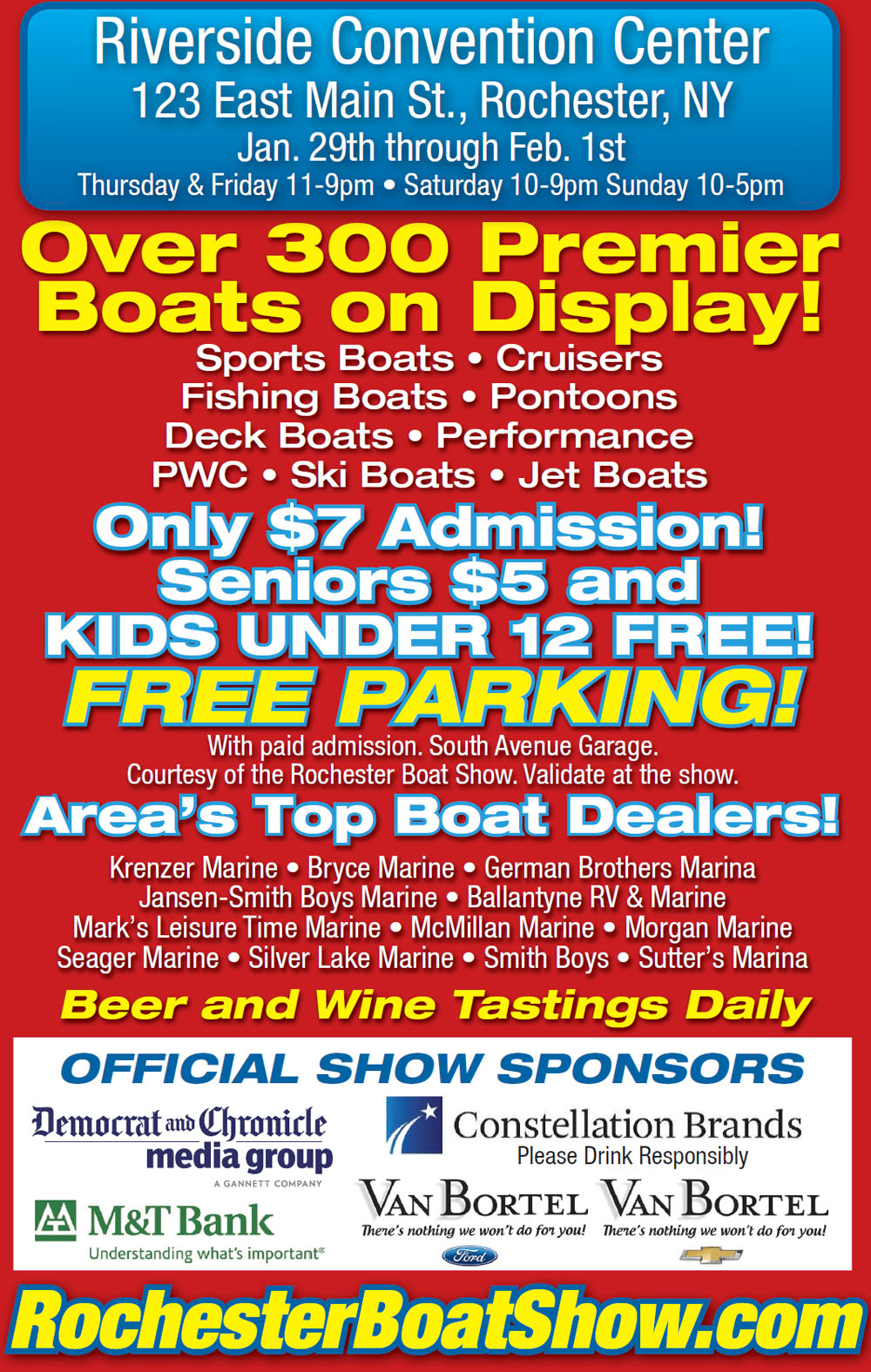 Rochester Boat Show Banner